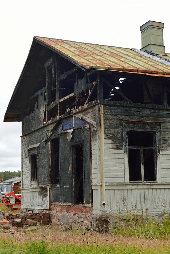 Снос домов после пожара